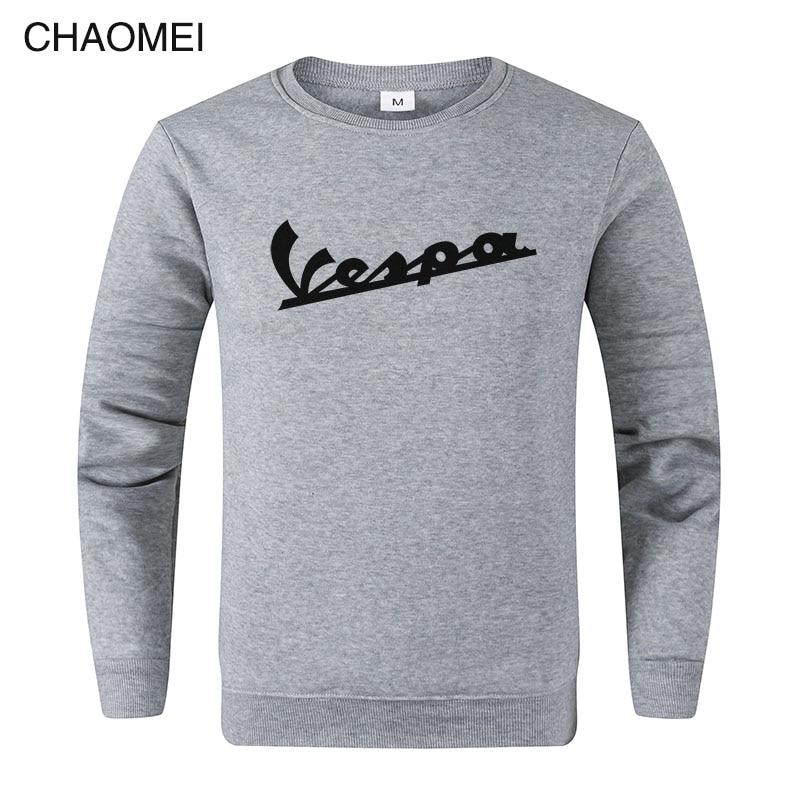 2019 Spring New Men Sweatshirt Clothing Vespa Hoodies Sweatshirts Motorcycle Casual Winter Jackets Pullover C108