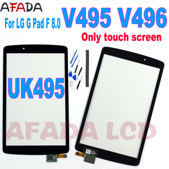 8''Tablet Pc Digitizer For LG G Pad F 8.0 V495 V496 UK495 Touch Screen Panel Sensor Outer Glass Not LCD Screen Replacement for texet tm 8044 8 0 3g tablet capacitive touch screen 8 inch pc touch panel digitizer glass mid sensor free shipping