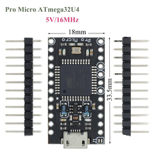 10Pcs/Lot With the bootloader Black Pro Micro ATmega32U4 5V/16MHz Module controller Mega32U4 mini leonardo for arduino