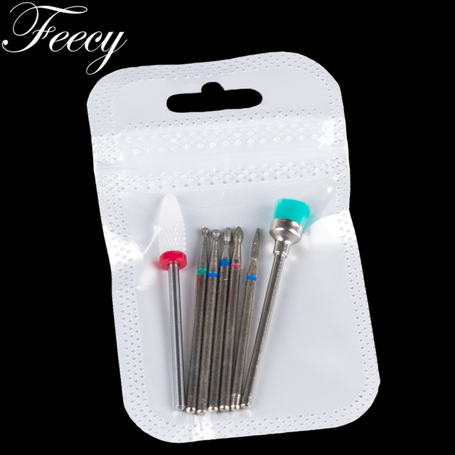 Milling Cutter for Manicure Ceramic Diamond Nail Art Drill Bits Mill Cutters for Removing Nail Gel Polish Manicure Machine Tools 5