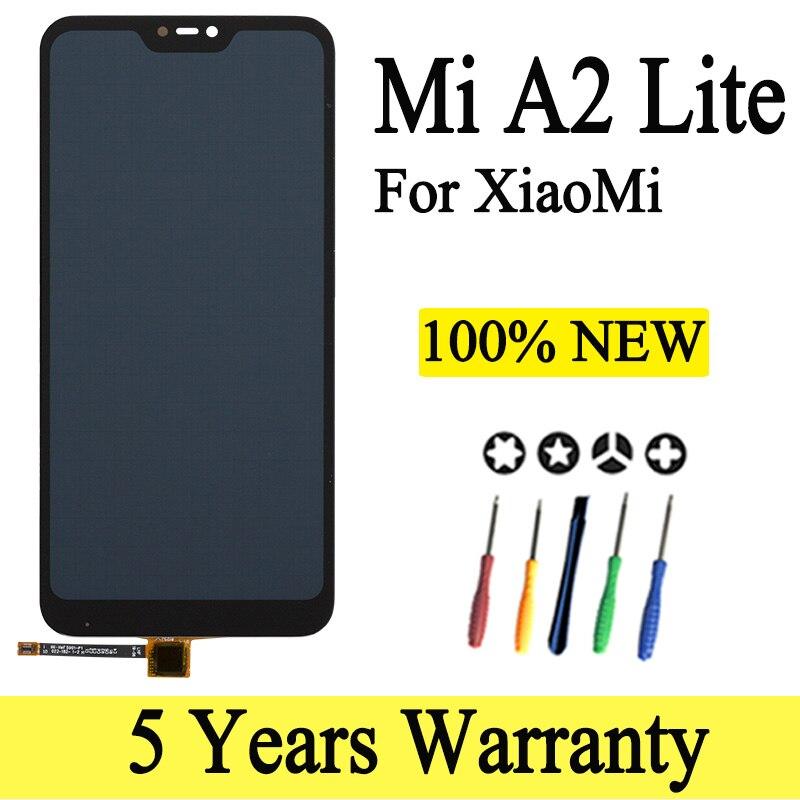 Lcd Für Xiaomi Mi A2 Lite LCD Display Mit Rahmen Digitizer Display Touch Screen Ersatz Für Xiaomi MiA2 Lite A2Lite display Handy-LCDs    -