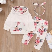 Headband-Set Hoodie Spring Patpat Toddler Girl Pants Clothing Baby Long-Sleeve Floral