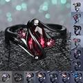 Уникальное Стильное женское и мужское кольцо с радужным кристаллом Изящные обручальные кольца из черного золота 14 карат для женщин и мужчи...