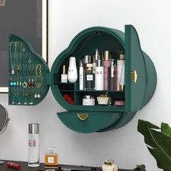 Настенный органайзер для косметики в ванную комнату, Большая вместительная шкатулка для хранения ювелирных изделий и косметики, стеллаж дл...