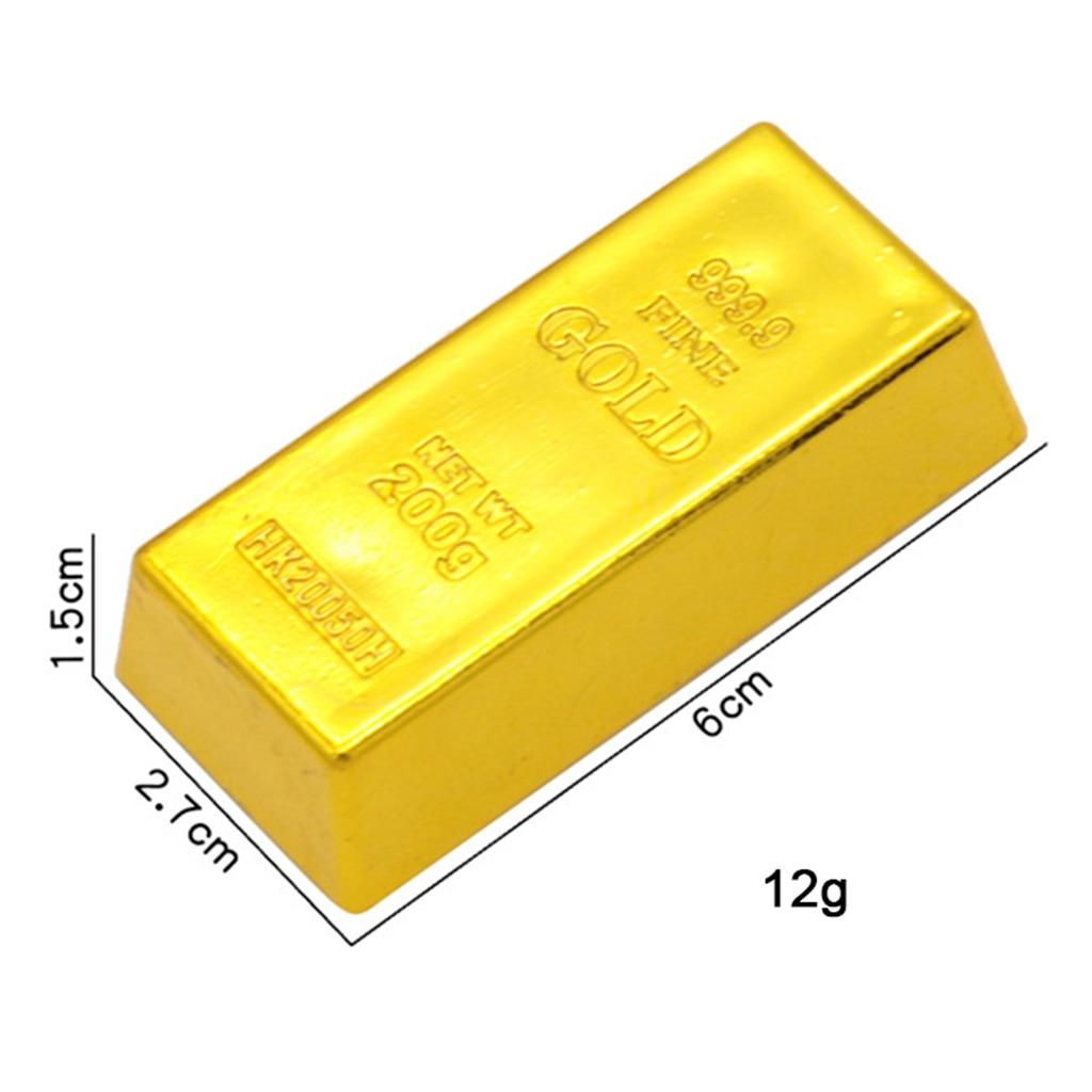 Creative Fake Gold Bar Bullion Door Stop Heavy Brick Paperweight Movie Props