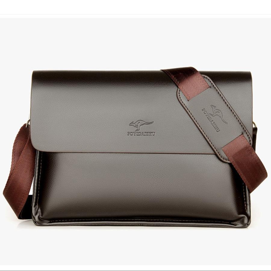 Men's Brand Designer Kangaroo Shoulder Bag Business Office Man Messenger Bag Brand Leather Crossbody Bags Male Laptop Bag Casual