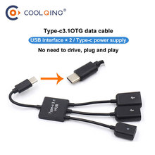 3in1 Type C to 3 USB port OTG HUB Cable Y Splitter Micro-USB Type-C Adapter Converter for Tablet Android Mouse Keyboard