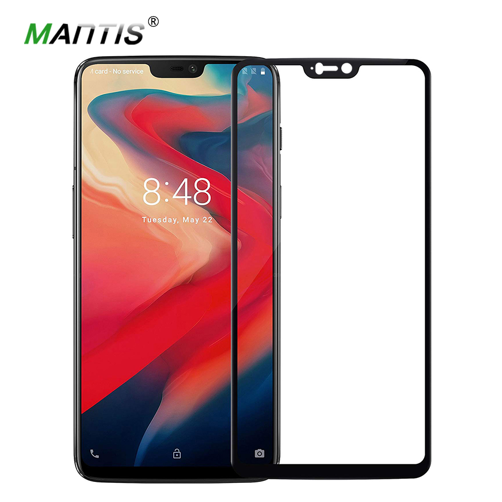 MANTIS Tempered Glass For Oneplus 6 9D Screen Protector For One Plus 6 Arc Edge Phone Glass For OnePlus6 Film OnePlus 6T 5 5T