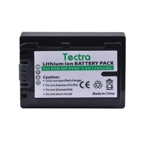 Tectra 1pc NP-FV50 NP FV50 NPFV50 Battery Pack for sony NP-FV30 FV50 FV70 FV90 FV100 FV120 HDR-SR68 DCR-SX85