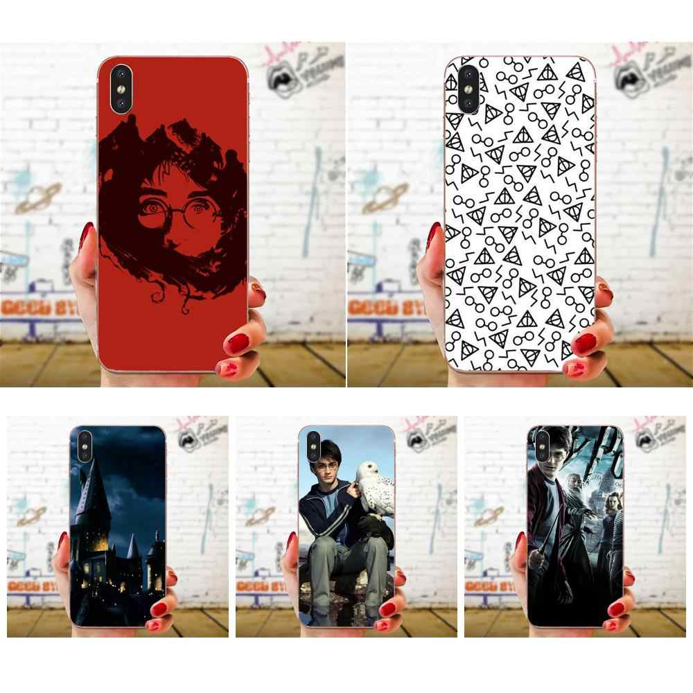 For Huawei Honor Nova Note 5 5I 8A 8X 10 Pro 9X For Moto G G2 G3 G4 G5 G6 G7 Plus Soft Bags Cases Deathly Hallows Design