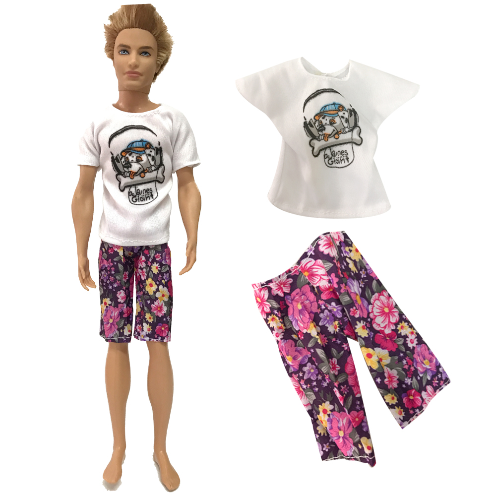 NK One Set Prince Ken Doll's Clothes Fashion Outfit Cool Daily Casual Wear For Barbie Doll Boy Doll AccessoChildren's Gift 51A
