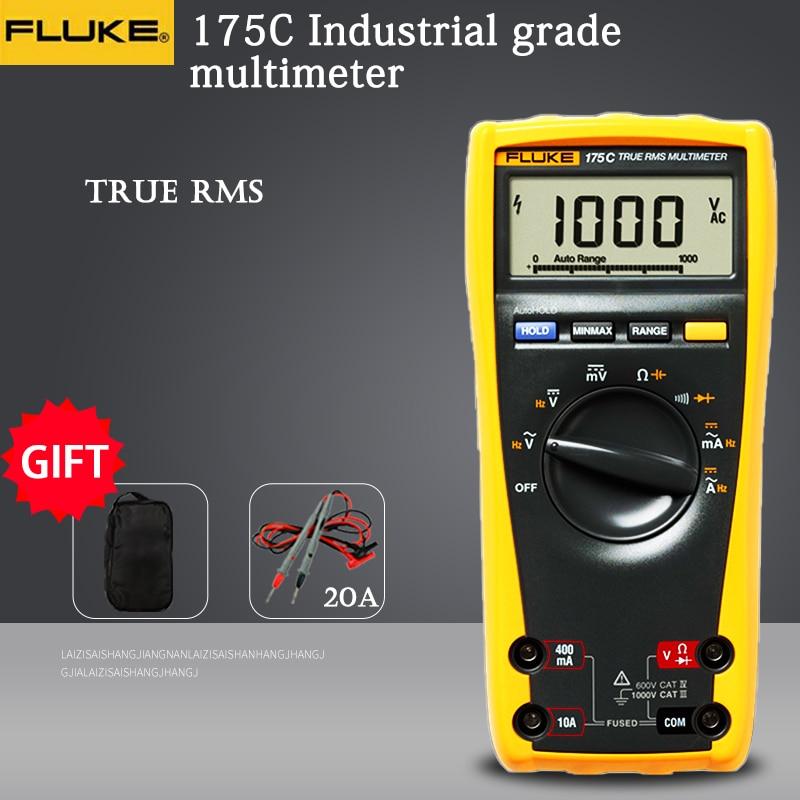 Цифровой мультиметр Fluke 175 175C True RMS, тестер напряжения, сопротивления, частоты и температуры