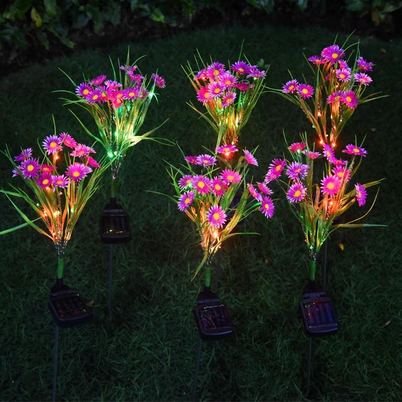 Лампа с хризантемами на солнечной батарее маленькие дикие декоративные садовые цветы светодиодный солнечный уличный красочный светильник садовый светильник|Светодиодные солнечные лампы|   | АлиЭкспресс