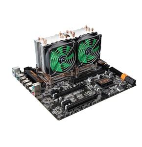 HUANANZHI 38 градусов CPU кулер для X79 LGA2011 материнские платы 4 тепловые трубы CPU Радиатор один вентилятор