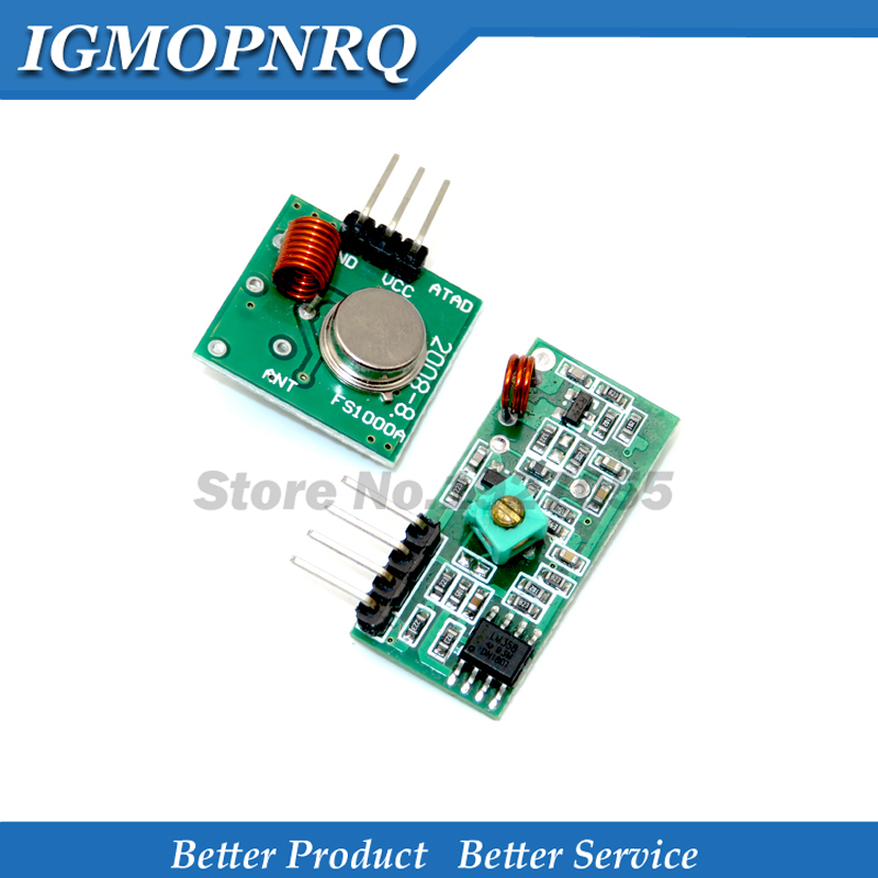 1Lot= 1 Pair (2pcs) 433Mhz RF Transmitter And Receiver Module Link Kit For /ARM/MCU WL Diy 433-mhz Wireless New