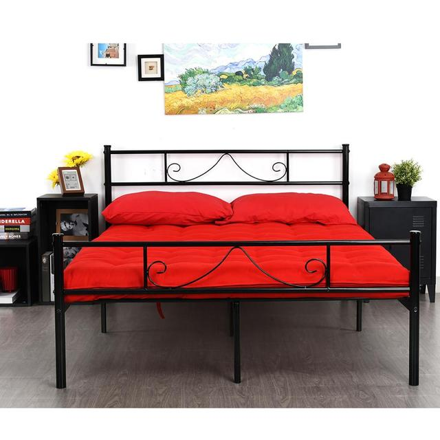 Diy Bathroom Shelf Ideas, Hot Sale 35e950 Metal Bed Frame Twin Full With Headboard Footboard Metal Platform Bed Slats Support Mattress Foundation Base For Teenage Adults Cicig Co