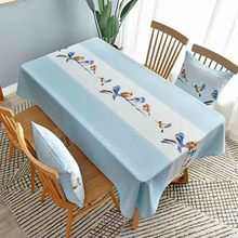 Birds  Living Room Dining Table Decorative Tablecloth Waterproof Oil Resistant