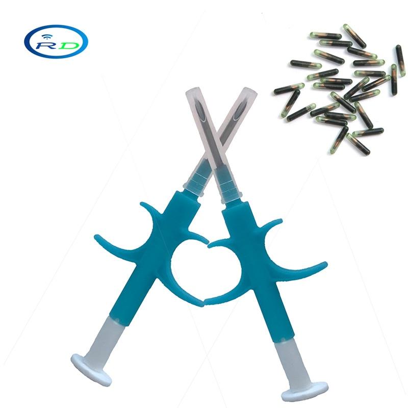 Free Shipping 100pcs FDX-B 2x12mm  Rfid Transponder Syringe For Animals/pet Microchips EM4305