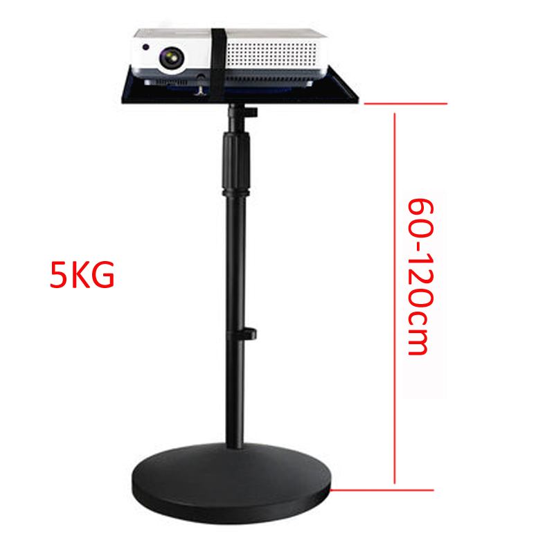 PMA-T3-60120  5KG 600-1200MM Universal Projector Tripod Stand Laptop Floor Holder Height Adjustable With Tray 39x28.5cm Big Base