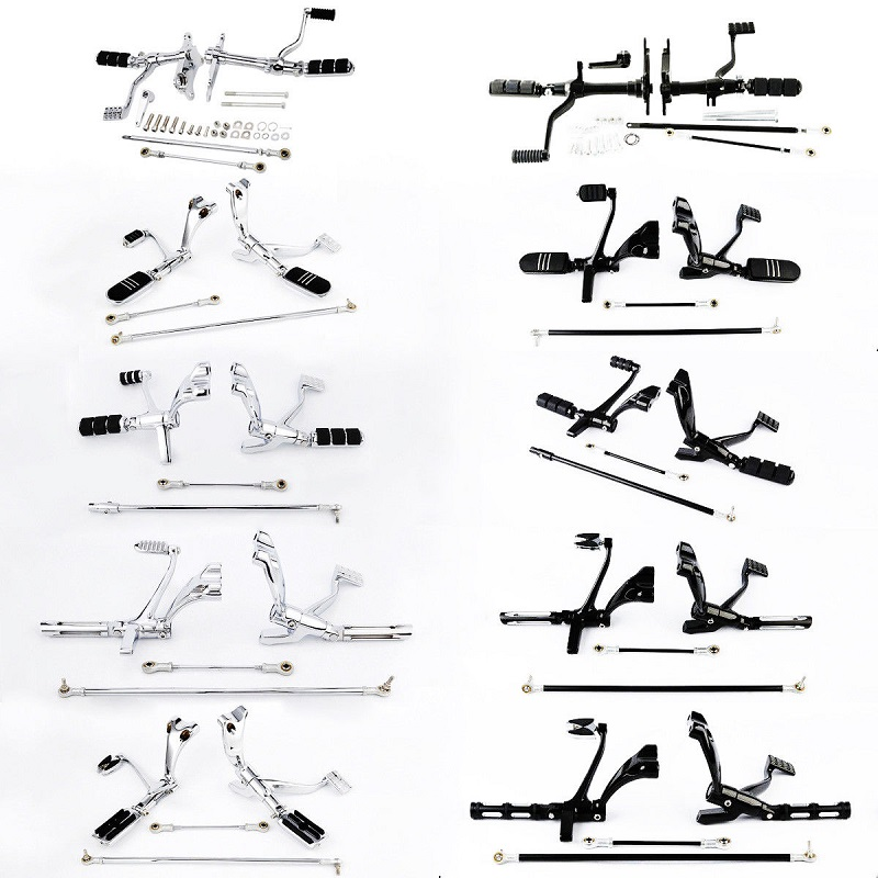 Motorcycle Motorbike Forward Control Pegs Linkages For Harley Sportster XL 883 1200 91-03 04-13 14-19