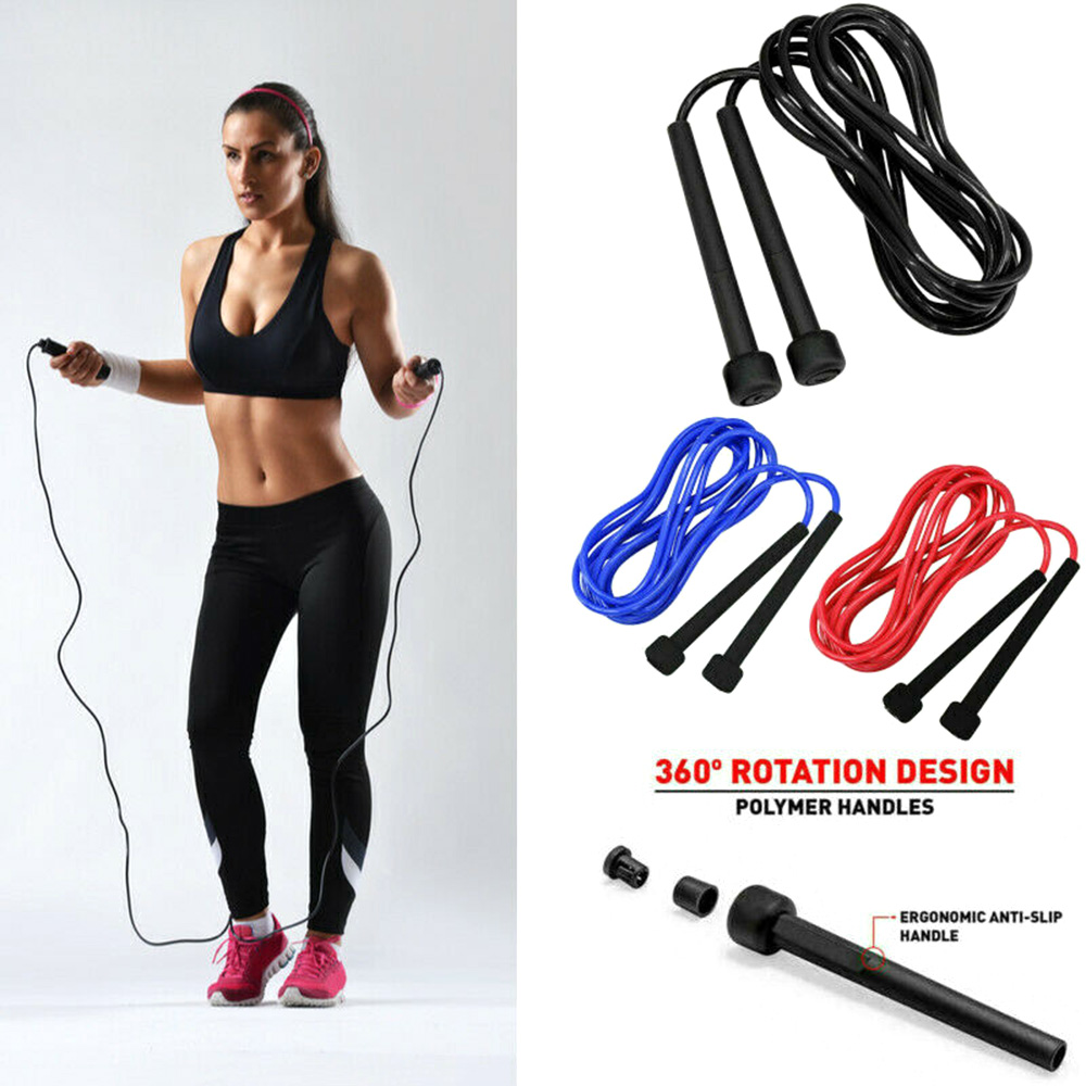 Adjustable Skipping Rope 9ft Long Jumping Boxing Fitness Weight lose Gym Workout