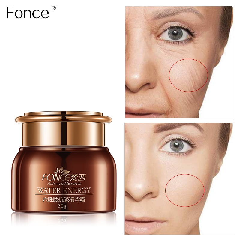 Fonce Six peptide Anti Wrinkle Face Cream 50g Anti Aging Dry Skin Hydrating Facial Lifting Firming Peptide Serum Day Night Cream 1