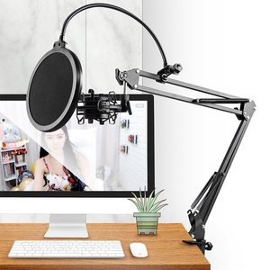 Image 2 - Mikrofon nożycowy stojak z ramieniem Bm800 uchwyt statyw stojak mikrofonowy F2 z pająkiem wspornik wspornikowy uniwersalny uchwyt amortyzujący