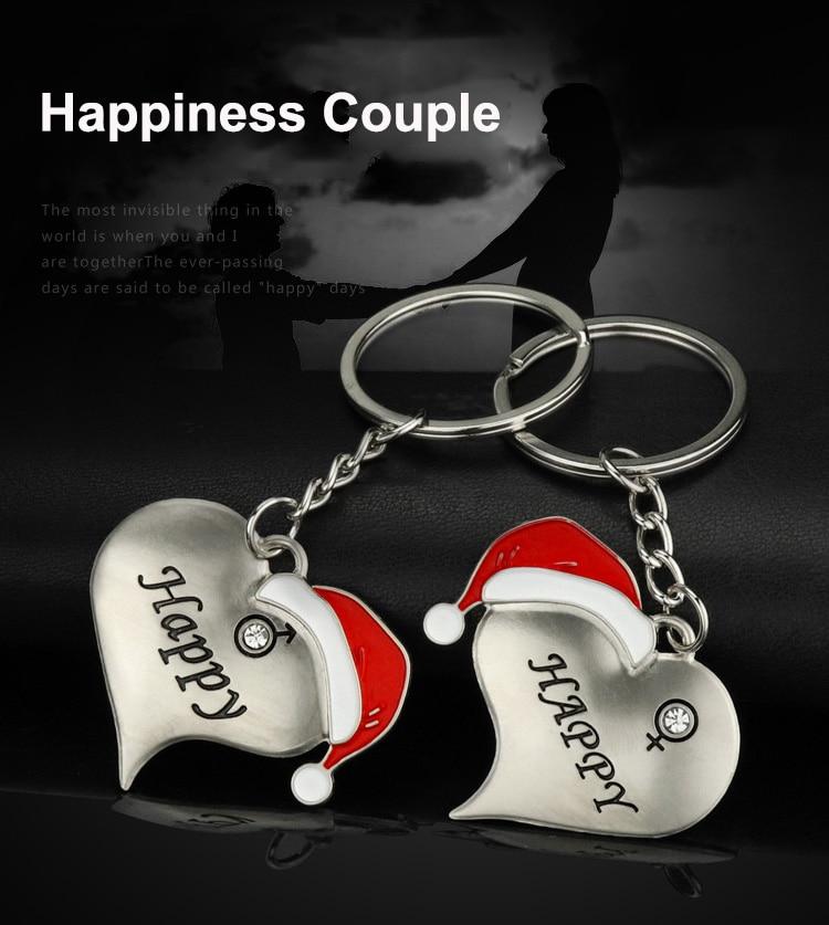 1 Pair Christmas Couple Key Chains  (3)