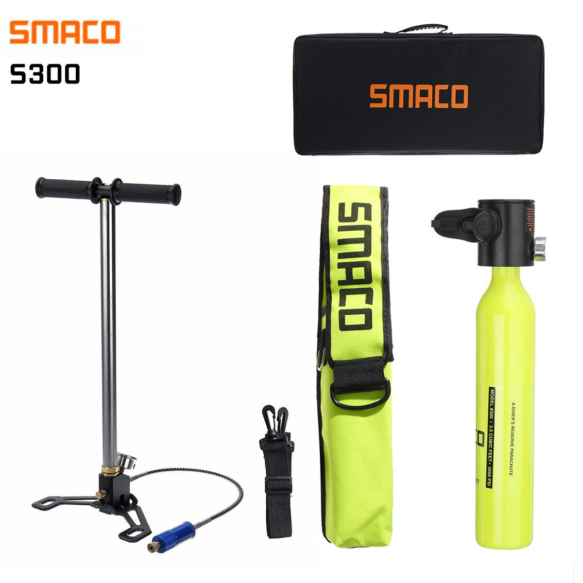 SMACO Diving System Mini Scuba Cylinder Scuba Oxygen Reserve Air Tank Pump Aluminum Box Snorkeling Diving Equipment Set