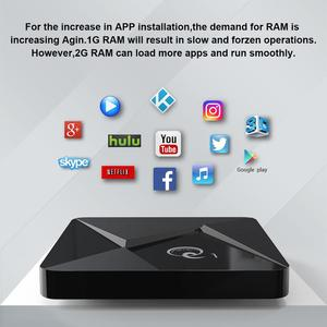Image 2 - الذكية أندرويد 9.0 صندوق التلفزيون Q1 Mini Rockchip RK3328 2GB 16GB مشغل الوسائط 2.4 واي فاي دعم صوت بعيد تي في بوكس أندرويد مجموعة صندوق