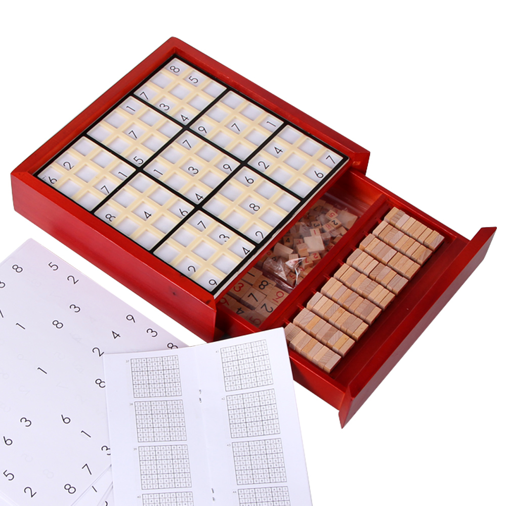 Learning Educational Sudoku Wooden Math Toy Children Educational Toy Educational Sudoku Game Gift IQ Wooden DD6SD