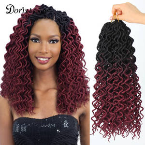 Hair-Extensions Braids Curly Crochet Faux Locs Goddess Synthetic Dreadlocks Beauty Hair-24roots-18inch