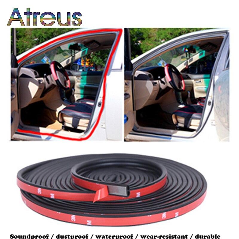 B Shape Rubber Car Door Sound Insulation Seal Strip Sticker For Volkswagen VW Polo Sedan Passat B5 B6 B7 B8 Golf Mk3 Mk4 4 7 5 6