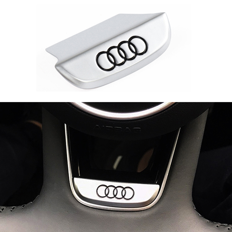 1pcs Car Steering Wheel Sticker 3D Metal Sticker Car Interior Sticker For Audi A3 A4 A5 A6 A7 A8 Q3 Q4 Q5 Q7 B8 Car Accessories