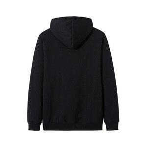 Image 2 - Pioneer Campo Streetwear Moda Felpe Degli Uomini di 100% Cotone Con Cappuccio Nero Bianco Causale Felpe Uomo AWY906403