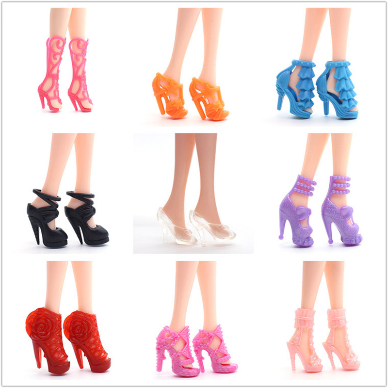 20/Pcs BJD Doll Shoes Doll Accessories Sandals Boots Clothes Mix Style High Heels Baby Doll Clothes Xmas Gift Girls Toys Shoes