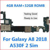 TEHXV Original Motherboard for Samsung Galaxy A8 2018 A530F A530FD 2 Sim Unlocked mainboard motherboard 32GB Logic Boards