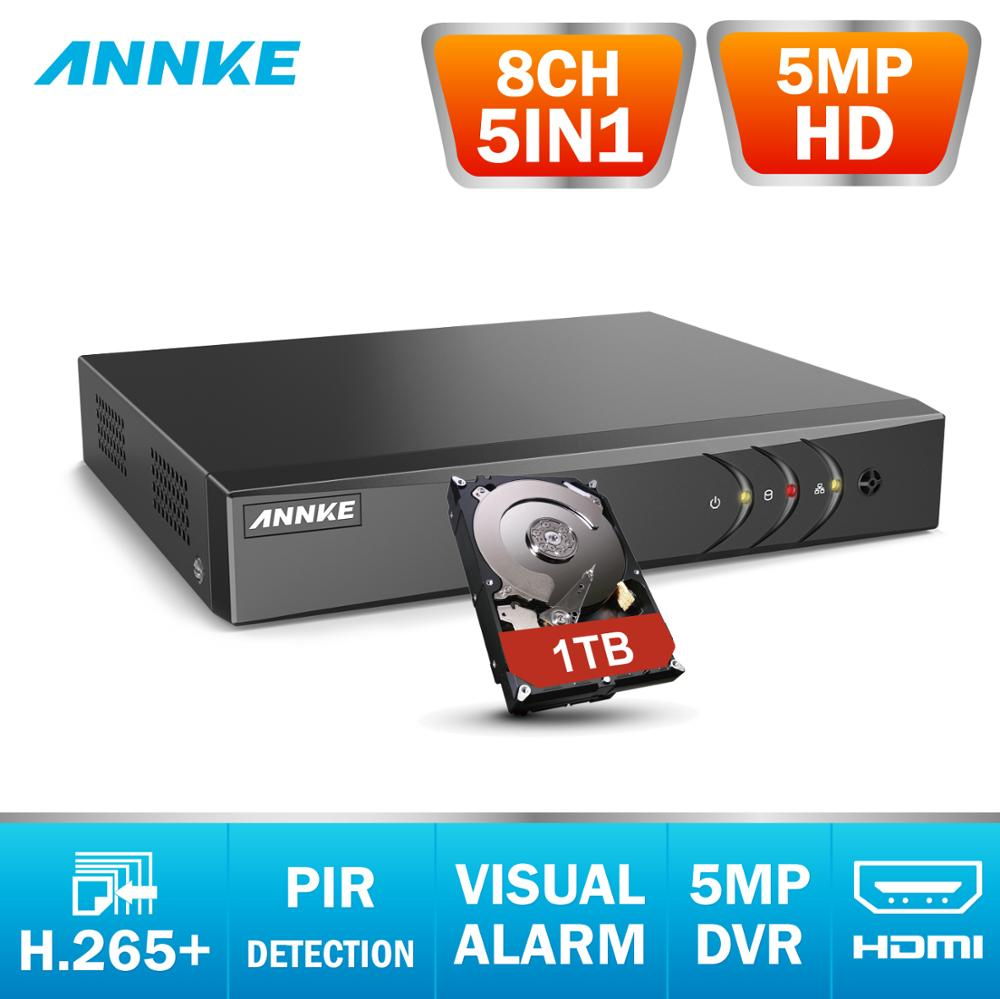 ANNKE 5MP HD 8CH CCTV Surveillance DVR H.265+ 5IN1 Digital Video Recorder PIR Motion Detection For 2MP 3MP 5MP Analog IP Camera