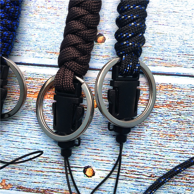 Lanyard for phone Military Grade Utility Necklace Lanyard Keychain Whistles Cord Wrist Strap with Metal Hook for Outdoor 3