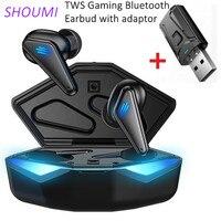 Auricolari da gioco TWS cuffie da gioco per bassi a bassa latenza LED posizione audio auricolare Bluetooth adattatore USB Wireless per Tablet PC telefono