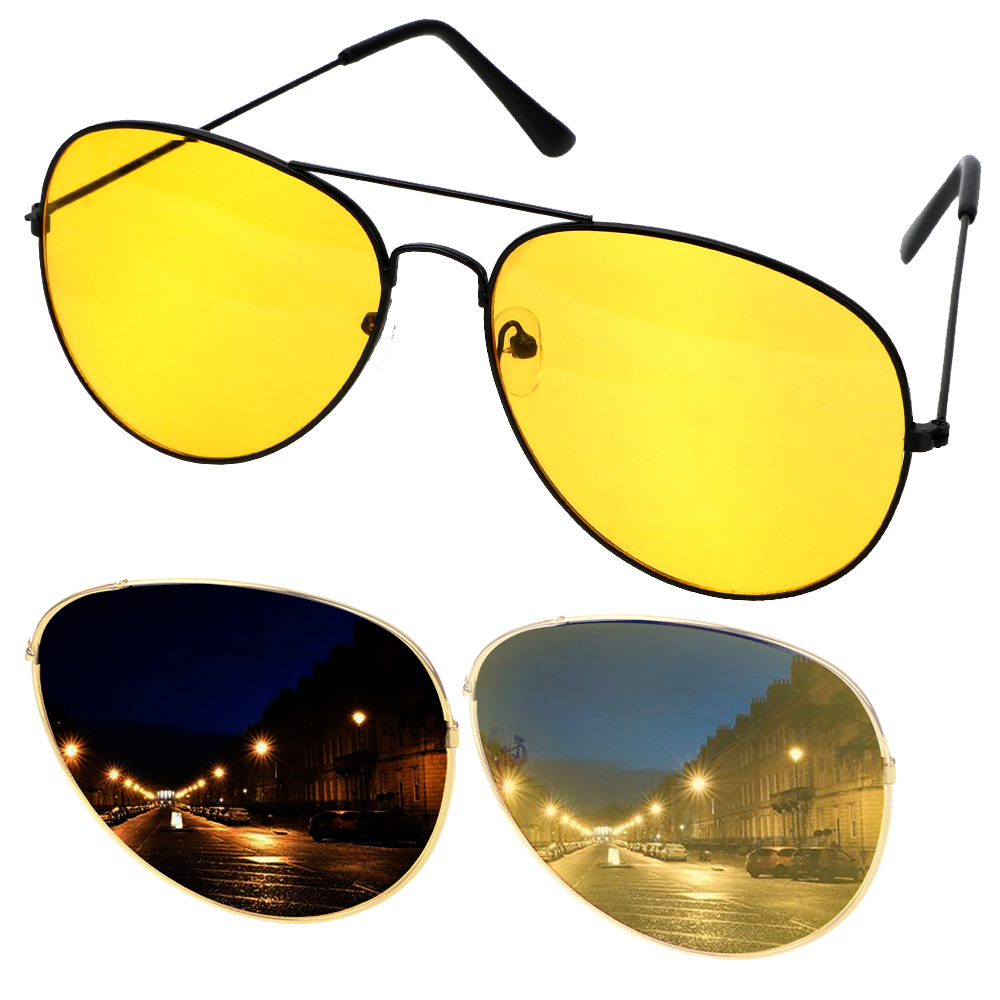 Anti-glare Polarizer Sunglasses Car Drivers Night Vision Goggles Polarized Driving Glasses Copper Alloy Sunglasses