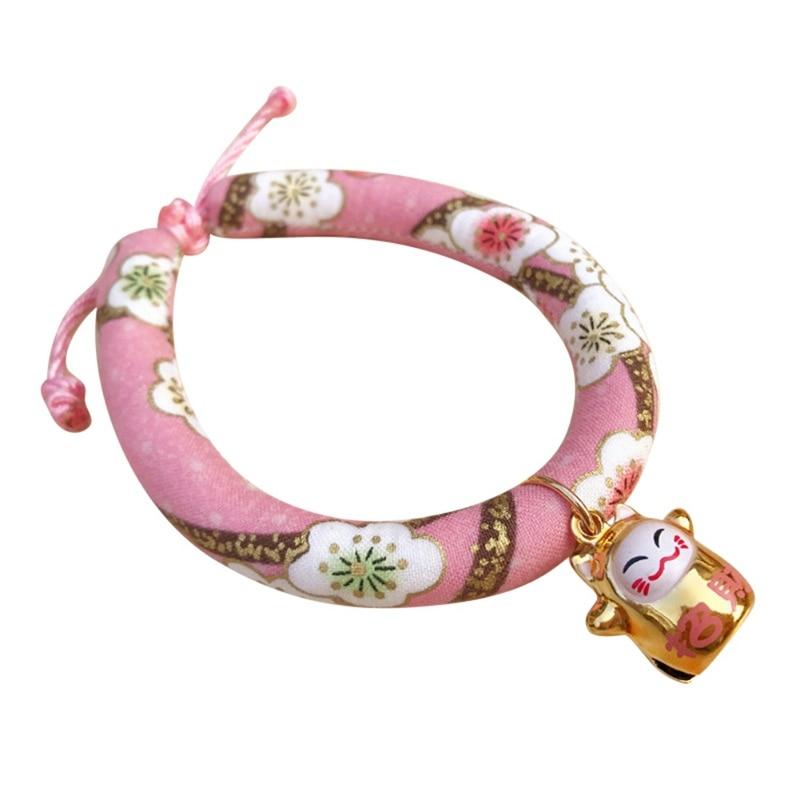 Цветное напечатанное ожерелье ручной работы колокольчик Ошейник Кошка для галстука аксессуары для домашних животных щенок Печатный Регулируемый с - Цвет: D