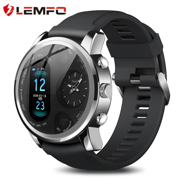 LEMFO Smart Watch Men T3 PRO Dual Time Waterproof IP67 Heart Rate Bluetooth Activity Tracker Smartwaches Sport for IOS Android 1