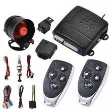 Système d'alarme de voiture, serrure de porte centrale à 1 voie, sans clé, avec 2 télécommandes, Protection anti-cambriolage, système de sécurité