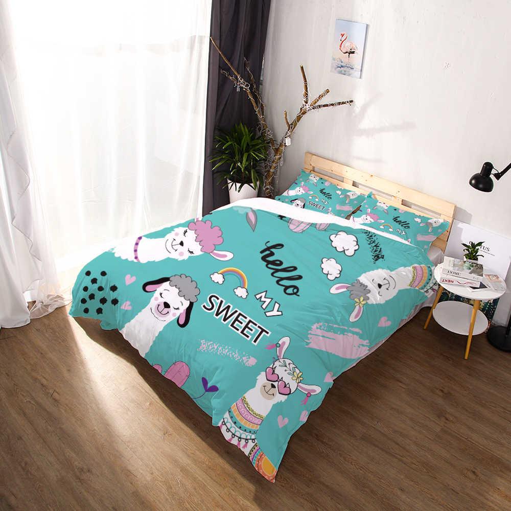 Miracille HD الطباعة الرقمية مخصص حاف الغطاء الاطفال الطفل لحاف الطفل/بطانية حالة الملكة الكرتون الفراش الملابس لطيف الألبكة