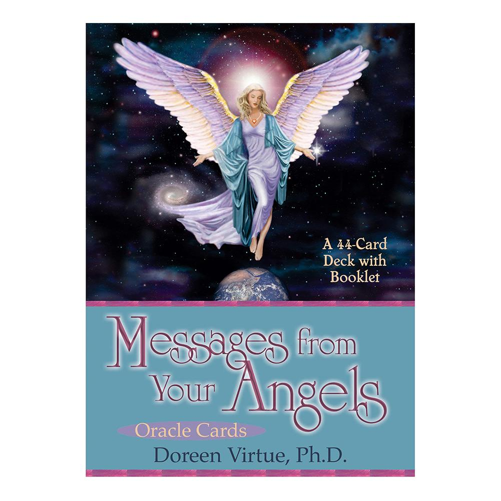 44 Sheet Oracle Cards Tarot Deck Of Messages From Your Angels: What Your Angels Tarot Board Game for Family Party Cards Game Toy image