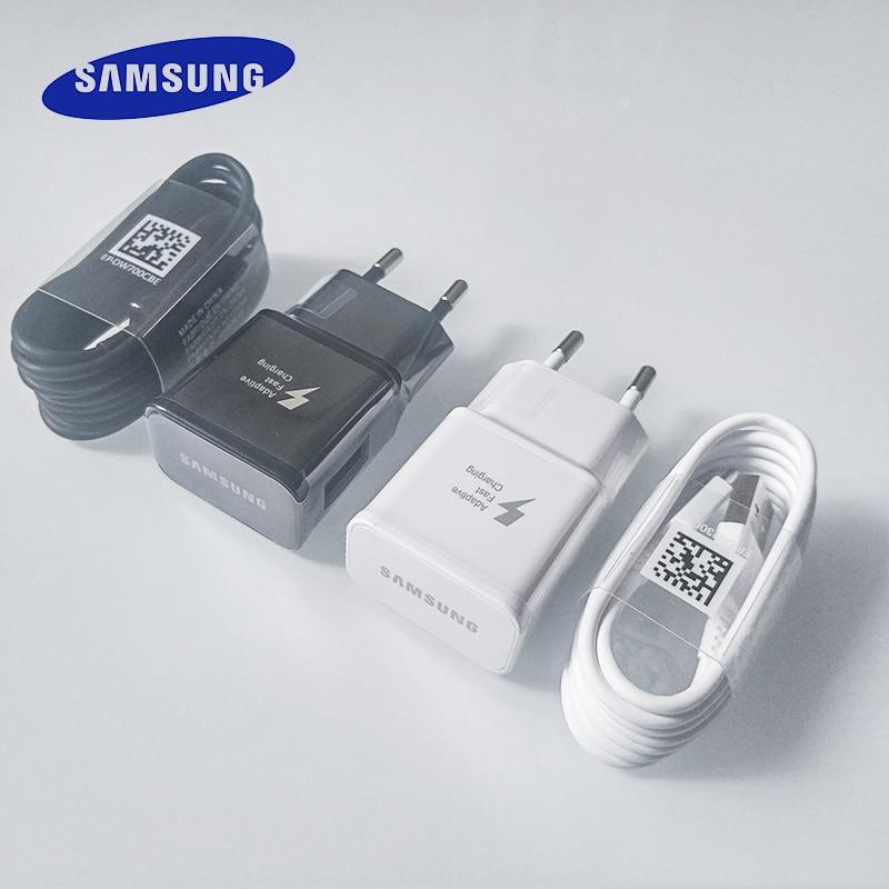Samsung S10 S8 S9 Plus быстрое зарядное устройство адаптер питания 9V1.67A кабель быстрой зарядки типа C для Galaxy A90 A80 A70 A60 A50 A30 Note 8 9