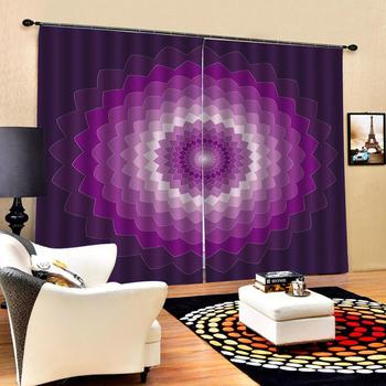 Blackout curtain photo Blackout Window Drapes Luxury 3D Curtains For Living room Bed room Office Hotel Home purple curtains