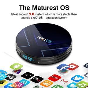 Image 2 - Android 9.0 Smart TV BOX HK1 X3 Amlogic S905X3 4GB RAM 128GB 2.4G/5G Dual Wifi BT4.0 1000M LAN USB 3.0 H.265 8K TV Set Top Box