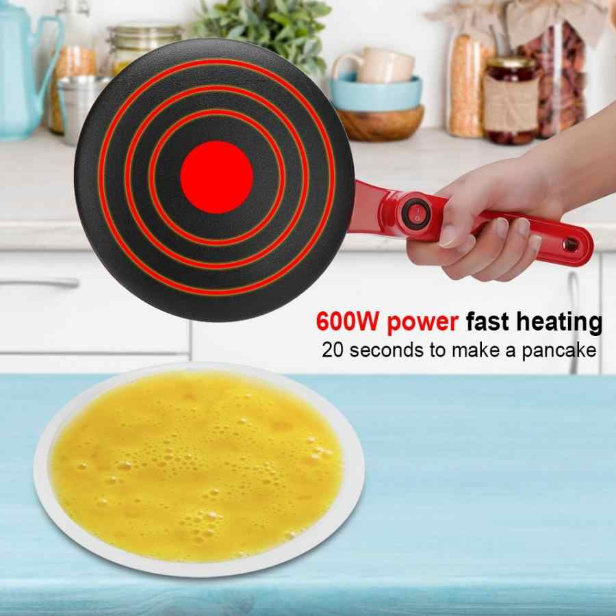 220V 50Hz חשמלי יצרנית קרפ פנקייק חשמלי עגול שאינו מקל פנקייק קרפ יצרנית מטבח מחבת רול עוגת מכונה